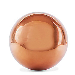 Polished Copper Stainless Steel 13cm Garden Sphere Gazing Ball Ornament