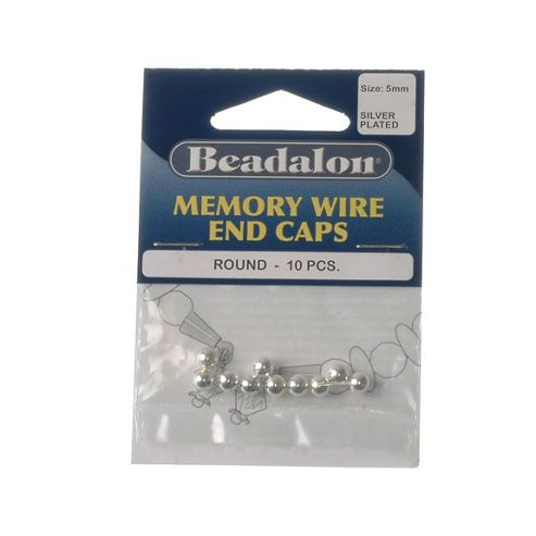Beadalon Mw Endcap 5mm Round Sp 10Pcs