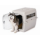 Petmate Vari Traditional Dog Kennel in Bleached Linen - Small (53cm L x 41cm W x 38cm H)