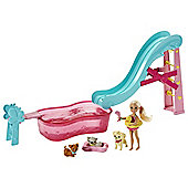 Barbie Chelsea Flippin' Pup Pool Playset