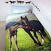 Mountain Horse and Foal Single Duvet