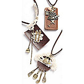 Tea Party Style Suede Fob Pendant - Assorted Designs