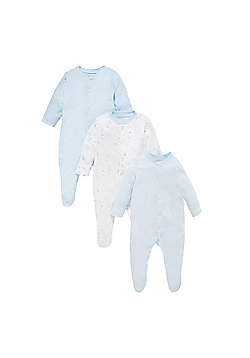 My First Sleepsuits - 3 Pack Size Up to 3 mnths - 14.5lbs
