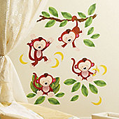 Cheeky Monkey Children's Wall Stickers