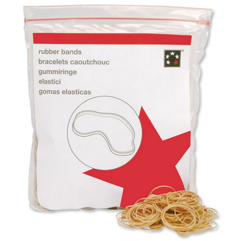 5 Star Rubber Bands No.64 Each 89x6mm Approx 365 Bands [Bag 0.454kg]