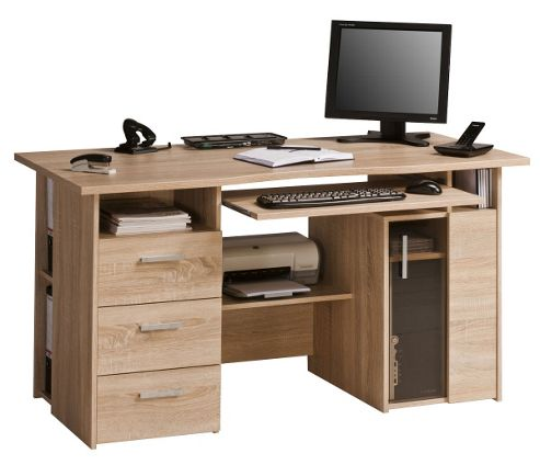 Buy maja capital oak computer desk from our office desks tables range tesco - Tesco office desk ...