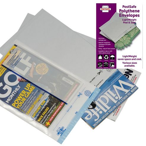 PostSafe Envelopes Polythene Self-seal 70micron 60mm Flap Clear C3+ Ref P30 [Box 100]
