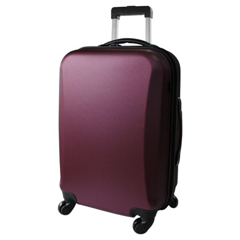 Tesco 4-Wheel Hard Shell Suitcase, Purple Large