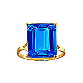 QP Jewellers 7.0ct Blue Topaz Auroral Ring in 14K Gold