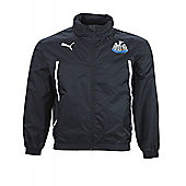 2013-14 Newcastle Puma Hooded Rain Jacket (Black) - Black