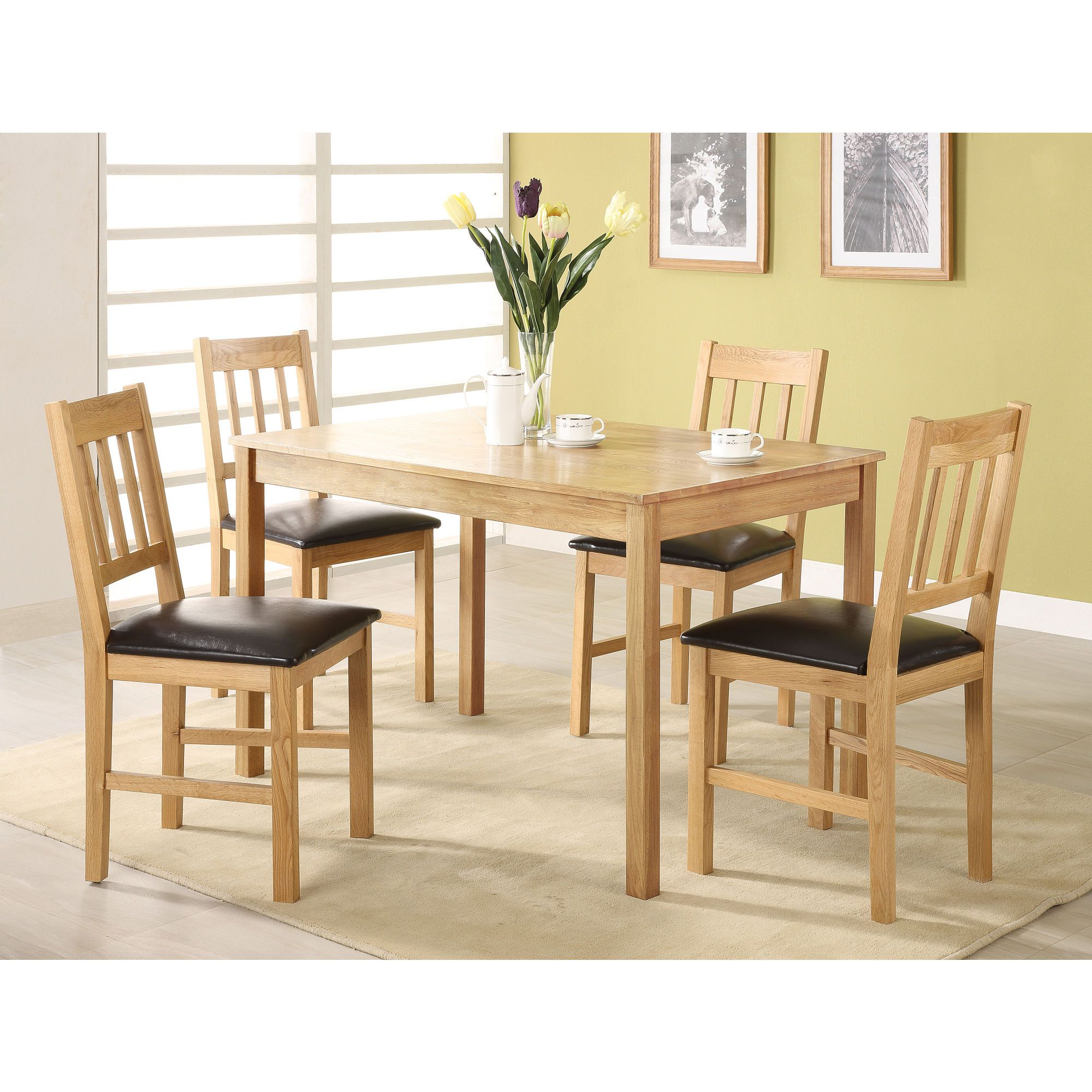Heartlands Furniture Hyde 5 Piece Dining Set at Tesco Direct