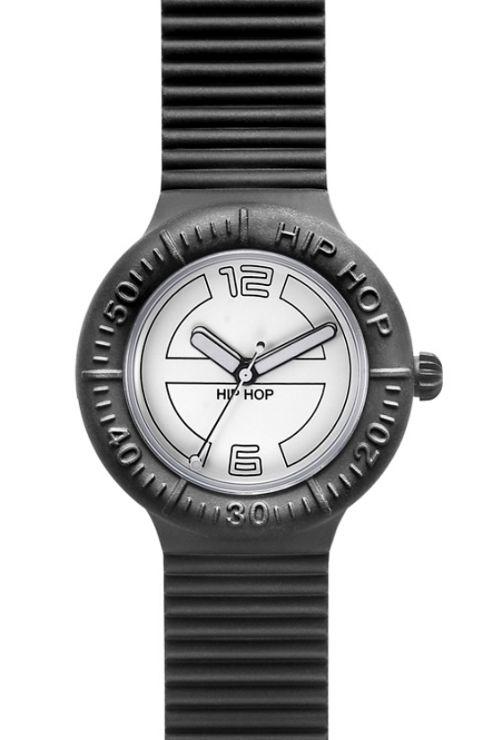 Hip Hop Unisex Large Black Tie Strap Watch HWU0116