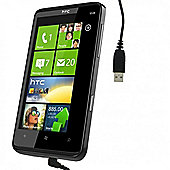 USB Data Sync and Charge Cable for HTC HD7 - Black