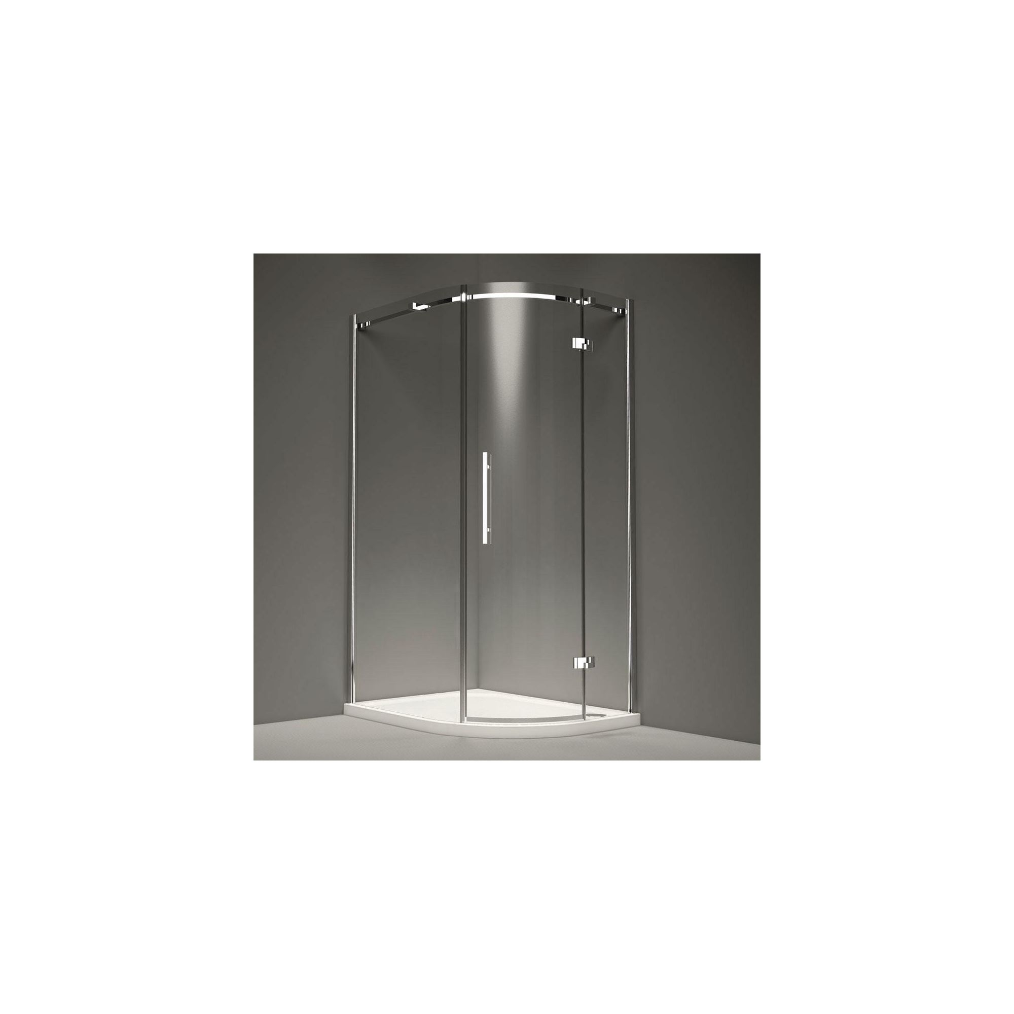 Merlyn Series 9 Single Quadrant Shower Door, 800mm x 800mm, 8mm Glass, Right Handed at Tesco Direct