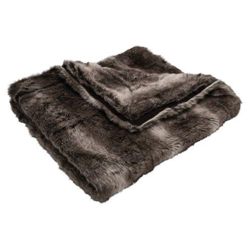 Arctic Fox Faux Fur Throw