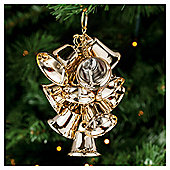 Festive Large Shiny Gold Bells Christmas Decorations