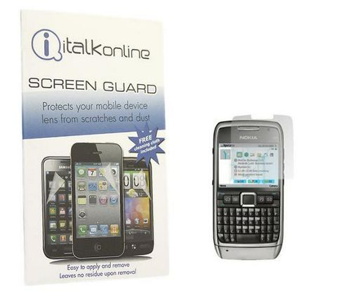 iTALKonline S-Protect LCD Screen Protector and Micro Fibre Cleaning Cloth - For Nokia E71