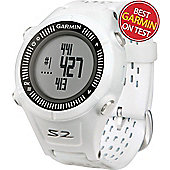 Garmin Mens Approach S2 GPS Golf Watch (White) in White