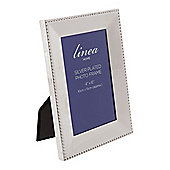 Linea Beaded Edge Silver Plated Frame 4X6