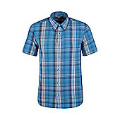Weekender Shirt Mens Short Sleeve Cotton Lightweight Summer T-Shirt Tee Shirt - Blue