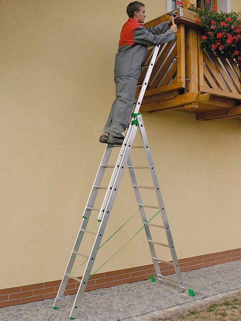 DIY 4Way 2m (6.56ft) Double Combination Ladder