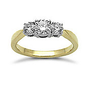 Jewelco London 18 Carat Yellow Gold 75pts Diamond Ring