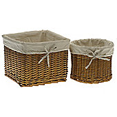 Wicker Valley Square and Round Storage Basket
