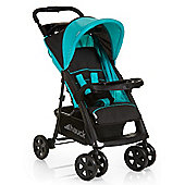 Hauck Shopper Comfort Pushchair, Black/Aqua