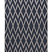 Think Rugs Hong Kong Steel/Grey Tufted Rug - 120 cm x 170 cm (3 ft 9 in x 5 ft 7 in)