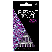 Elegant Touch Glitter Nails-Tickled Pink
