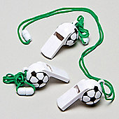 Party Bag Football Whistles (Pack of 6)