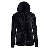 Mountain Warehouse Snaggle Womens Hooded Fleece - Black