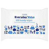 Tesco Everyday Value Handy Wipes - 100 Wipes