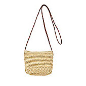 F&F Crochet Straw Cross-Body Bag