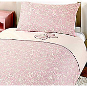 Pink Butterfly Pure Cotton Single Duvet