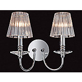 Firstlight Grace Two Light Wall Sconce in Chrome