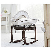 Clair De Lune Bedtime Story Dark Wicker Moses Basket
