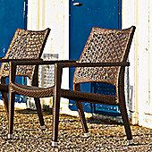 Varaschin Altea Relax Chair by Varaschin R and D (Set of 2) - Bronze - Sun Screen