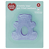 TESCO LOVES BABY TEDDY BEAR TEETHERS x2