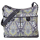 OiOi Baroque 2-Pocket Hobo Changing Bag, Paisley
