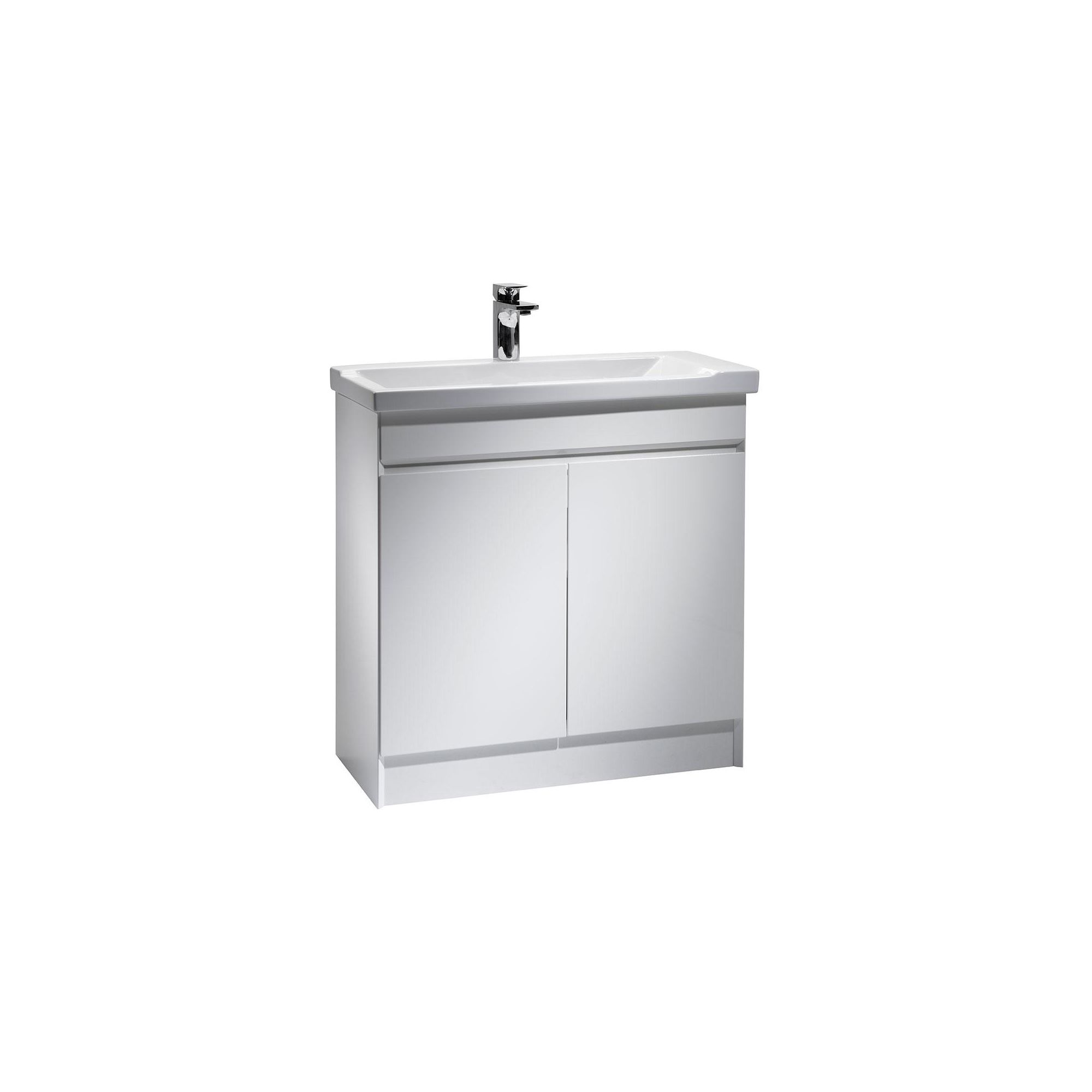 Tavistock sharp white floor standing cabinet and basin 1 for Bathroom cabinets 800mm wide