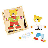 Bigjigs Toys BJ765 Wooden Dress Up Mr Bear