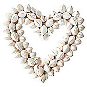 Shell Heart Garden Ornament