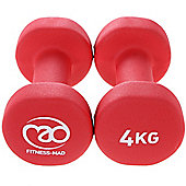Fitness Mad Neoprene Dumbbells 4KG