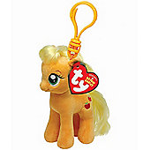 "TY Beanie 4"" Key Clip My Little Pony Apple Jack"