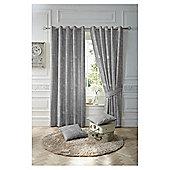 Nostalgia Eyelet Curtain Charcoal 90x90