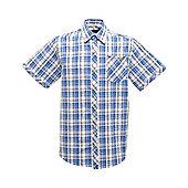 Regatta Mens Deakin Short Sleeve Shirt - Blue