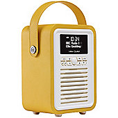 View Quest Retro Mini DAB+/FM Radio with Bluetooth (Mustard)