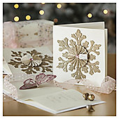 Glitter Snowflake Luxury Christmas Cards, 6 pack