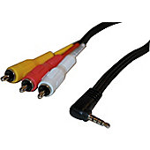 Nikkai Panasonic Camcorder 4 Pole Video Lead Cable 3M